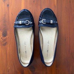 Anne Klein navy blue loafers